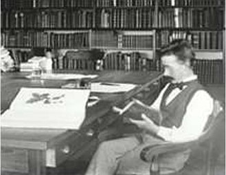 Alfred Rehder - Rehder in the Arnold Arboretum  library in 1898, shortly after his arrival in the U.S.