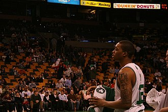 Allan Ray - Ray during a game with the Celtics
