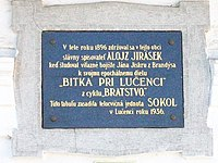 Alojz Jirásek - Memorial plaque.jpg
