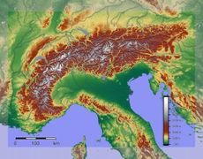 מפת הרי האלפים