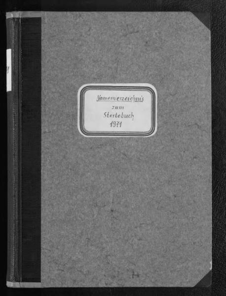 File:Alphabetisches Namensverzeichnis zum Sterberegister des Standesamtes Minden, 1971.djvu