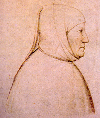 Visconti of Milan - Petrarch lived in Milan from 1353 to 1361 providing in his letters first-hand accounts from the Visconti court (portrait by Altichiero da Verona)