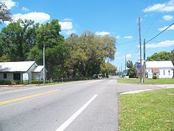 SR 19, looking north towards the CR 42 intersection in April 2009.