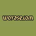 Ambigram logo Worase com reversible domain name - yellow black green.png