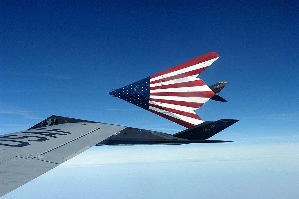 American Flag F-117 Nighthawks