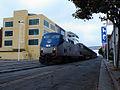 Amtrak train on Jack London square.jpg