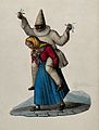 An old woman carrying a clown in white Wellcome V0049586.jpg