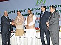 Ananth Kumar presented the awards at the inauguration of the annual seminar of Fertilizer Association of India, in New Delhi. The Minister of State for Chemicals & Fertilizers, Shri Hansraj Gangaram Ahir, the Secretary (2).jpg