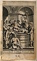 Ancient anatomists in discussion around a cadaver. Engraving Wellcome V0010445.jpg