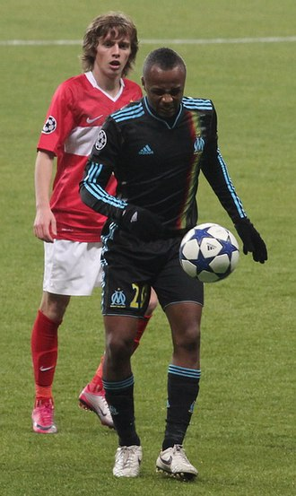 André Ayew - Ayew playing with Marseille in the 2010–2011 UEFA Champions League