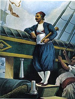 """Ο Ανδρέας Μιαούλης στο πλοίο """"Κως"""""""