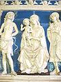 Andrea della robbia (bottega), pala dei santi sebastiano e giuliano, da conv. di sargiano, 1495-1500 ca. 02.JPG