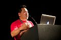 Andrew Lih talked about video for Wikipedia at Wikimania 2014.jpg