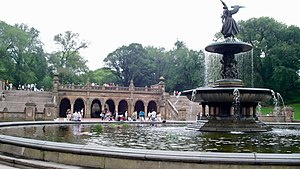 Bethesda Terrace and Fountain - Bethesda Terrace (back) and Bethesda Fountain (front)