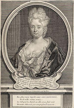 Anne-Thérèse de Marguenat de Courcelles - Portrait of Anne-Thérèse de Marguenat de Courcelles by Étienne-Jehandier Desrochers