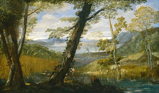 Annibale Carracci - River Landscape - Google Art Project