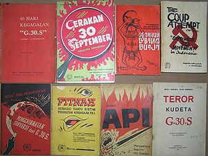 30 September Movement - Contemporary anti-PKI literature blaming the party for the coup attempt