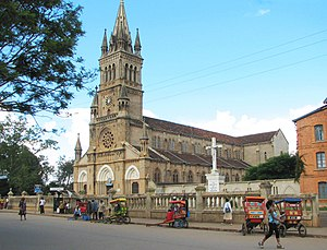 Demographics of Madagascar - Roman Catholic cathedral in Antsirabe.