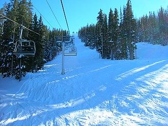 Sunrise Park Resort - High-speed quad chairlift on Sunrise Peak.