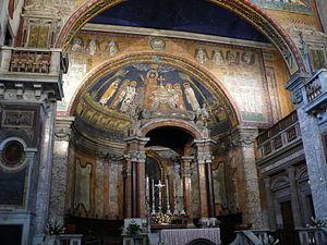 Santa Prassede - Image: Apsis mosaic S Prassede Rome W1