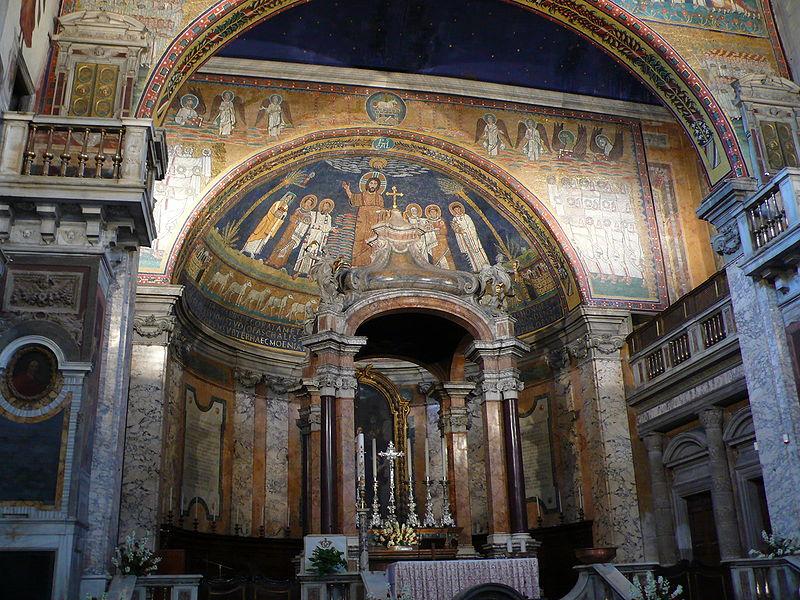 File:Apsis mosaic S Prassede Rome W1.JPG
