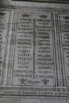 Photograph of side-by-side stone panels with engraved names.
