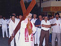 Archbishop Michael Augustine during Good Friday in way of Cross.JPG