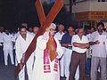 Archbishop Michael Augustine during Good Friday in way of Cross.JPG