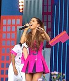 Ariana Grande performs in the World Wide Day of Play 2013 PETER DZUBAY