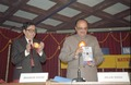 Arjun Singh with Bhaskar Ghose Uncovered Information Revolution Gallery Folder - Inaugural Function - National Science Centre - New Delhi 1992-01-09 255.tif