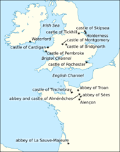 Map of Britain, Ireland, and France