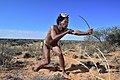Arri Raats, Kalahari Khomani San Bushman, Boesmansrus camp, Northern Cape, South Africa (20540522615).jpg