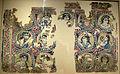 Arte bizantina, drappo in lana con teste di gruppo dionisiaco, 400-700, forse da antinoopoli (sheik ibada).JPG