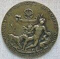Artista del nord-italia, allegoria della fede, giovane morso da leoni, 1510-15 circa.JPG