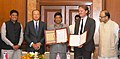 Arun Jaitley, the President, World Bank Group, Dr. Jim Yong Kim and the Minister of State (Independent Charge) for Power, Coal and New and Renewable Energy (1).jpg