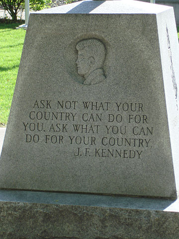 antithesis ask not what your country can do for you President kennedy said, ask not what your country can do for you, but what you can do for your country president kennedy kept his promise to the american people to put a man on the moon before the end of his decade he succeeded, putting neil armstrong on the moon in 1969.