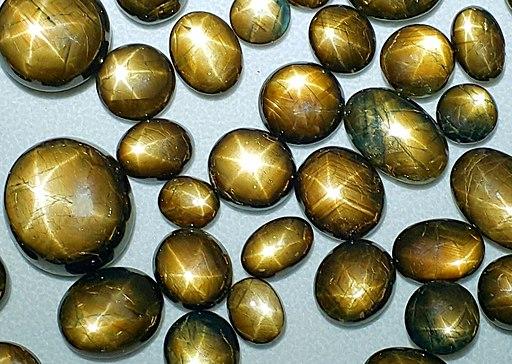 Assorted Gold Sheen stars