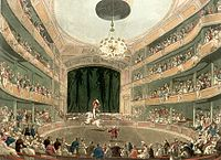 Illustration du Royal Amphitheatre : la piste et les galeries