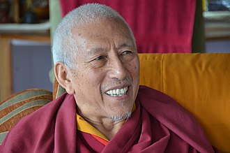 Samdhong Rinpoche - At his home in Dharamshala, while being interviewed by the Editor of Tibet Sun in 2016