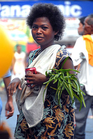 Ati people - Ati woman in Panay