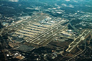 Hartsfield–Jackson Atlanta International Airport - Image: Atlanta Airport Aerial Angle (31435634003) (2)