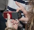 Attendee taking photo with Lytro light field camera (back).jpg