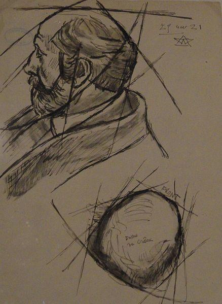 Fichier:Auguste Perret- Bourdelle 1921.jpg