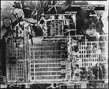 Auschwitz lors du bombardement le 13 septembre 1944