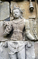 Avalokiteshvara on the wall of Plaosan temple, Java