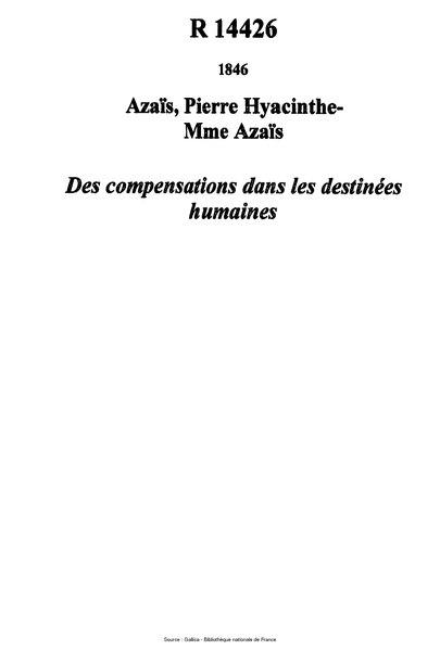File:Azaïs - Des compensations dans les destinées humaines.djvu