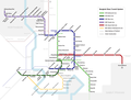 Bangkok BTS, MRT, ARL and BRT Systems Map in 2017