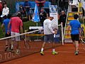 BMW Open exhibition match Haas and Spengler vs Kohlschreiber and Glock 13.JPG