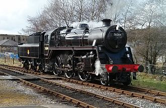 BR Standard Class 4 2-6-0 76084 - 76084 visiting the East Lancs Railway in 2014.