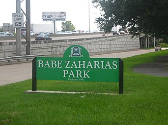 Babe Didrikson Zaharias - Babe Zaharias Park is located in Beaumont adjacent to her museum.